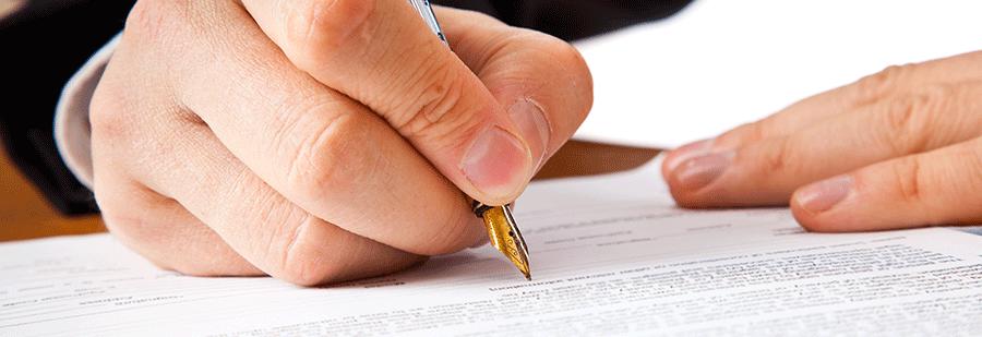 Бумажный договор