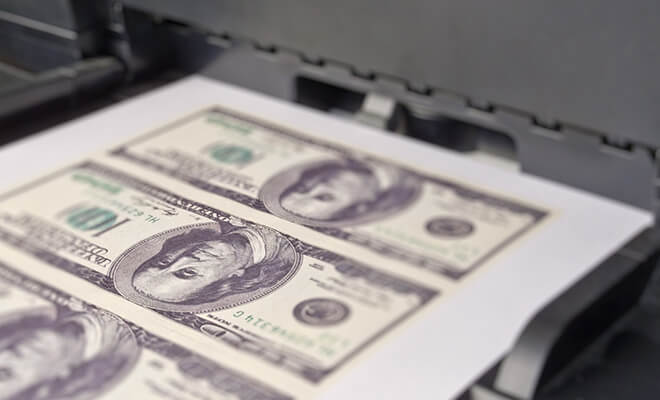 Печать долларов