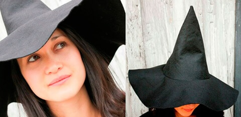 Шляпа ведьмы для Хэллоуина
